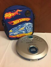 Lettore Cd Portatile + Custodia e Porta Cd Hotwheels