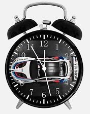 "BMW Race Car Alarm Desk Clock 3.75"" Home or Office Decor E224 Nice for Gift"