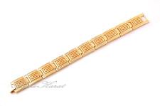 Unisex Gold Strass Armband 18 Karat KGP Männer Armband Erkek Bileklik Dügün NEU