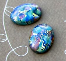 00626 Czech Glass Mosaic Oval Cabochon 18x13 mm - pack of 2