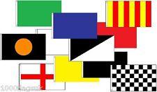 Motor Racing Formula 1 Flag Set 3' x 2 ' 11 Flag Set