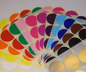 Mixed Pack - Assorted Round Coloured Code Circles Dots Stickers - Sticky Labels