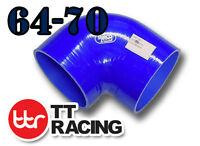 """Silicone 90 Degree Reducer Elbow Hose Pipe 64mm - 70mm 2.5 2.75"""" Turbo Air Pipe"""