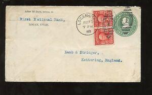USA 1905 UPRATED STATIONERY PRINTED RETURN LOGAN UTAH