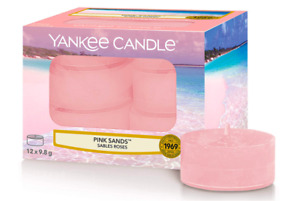 Yankee Candle Tea Light Scented Candles   Pink Sands   12 Count Pack