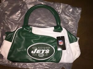 NFL New York Jets Faux Leather Purse National Football League Official Gear WOW