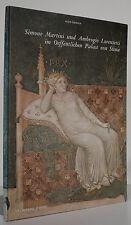 Italia RINASCIMENTO PITTURA Affreschi Palazzo di Siena da Simone Martini nastro immagine