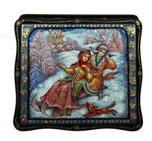 Kholui Gorgeous Russian Lacquer Box on the SLEIGHS #4168