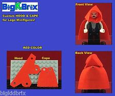 HOOD & CAPE (RED) Custom made for LEGO Minifigures PRICE gets you 2 SETS #3