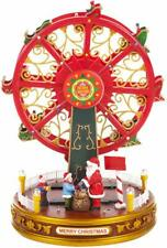 The Christmas Workshop Red Music Ferris Wheel Scene Ornament with LED Light Lamp