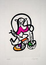 «Le Chat qui preche» 1971, lithographie de Charles LAPICQUE