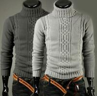 Men's Sweater Pullover Cardigan Casual Coat Turtleneck Knit Slim Fit Spring