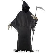 C789 Grim Reaper Deluxe Scary Horror Robe Halloween Fancy Dress Mens Costume