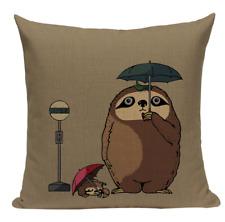 Totoro Sloth JP2 Cushion Pillow Cover Hayao Miyazaki Neighbor Anime Japanese