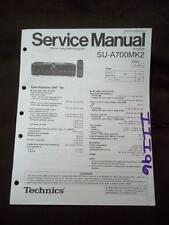Technics Service Manual for the SU-A700MK2 Amplifier Amp   mp