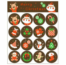 Cute Christmas Cartoon Pattern New Year Stickers Note Book Bottle Decor 160 pcs