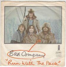 "BAD COMPANY-RUN WITH THE PACK-RARE ORIGINAL YUGOSLAV 7"" 45rpm 1976-UNIQUE COVER"