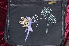 Purple Fairy/Dandelion, Lovely Hand Painted Shoulder Bag, Adjustable Strap