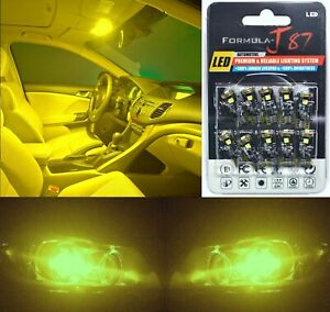 Canbus Error LED Light 194 Yellow 3000K Ten Bulbs License Plate Tag Upgrade SMD
