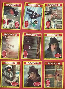 1979 Topps Rocky II Partial set 55 0f 99 nm to mint