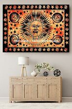 Hippie Sun and Moon Tapestry Throw Indian Wall Hanging Beach cover Ethnic Decor