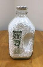 Vintage 1/2 Gallon Glass Vermont Country Milk Bottle & Cap
