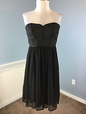 Max and Cleo BCBG Black Strapless Cocktail Party Dress Excellent S 6 LBD texture