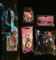 Sailor Moon Luna  Plush Coin Purse Lanyard Keychain Necklace Wristbands Lot