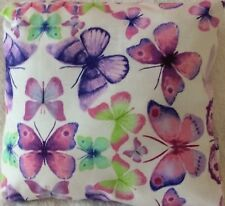 Sofia Lilac Butterfly Print Handmade Cushion Cover matches Next bedding 12x12""