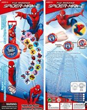 NEW 1 pcs Spiderman Spider-man Kids Digital Watch PROJECTION Projector 20 images