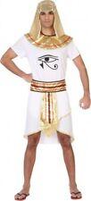 Déguisement Homme PHARAON Blanc M/L Roi d'Egypte Osiris egyptien NEUF Pas cher