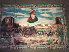 "John Wayne Wall Hanger ATC New York 100% Cotton  52""x 34"" Tapestry Vintage"