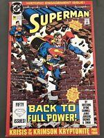 Superman #50 DC Comics Lois Lane Post Crisis Infinite Earths 1990 NM Engagement