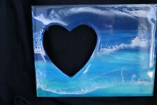 Beach lover gift epoxy hearts frame shore perfect gift epoxied