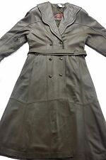 LADIES GENUINE LAMB LEATHER TRENCH COAT FULLY LINED MADE IN TURKEY, SIZE M,BROWN