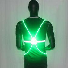LED Reflective Vest Adjustable High Visibility Belt for Running Jogging Cycling