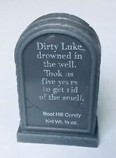 Vintage 1983 Leaf BOOTHILL Tombstone Candy Container bubble gum DIRTY LUKE