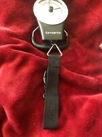 Samsonite Manual Luggage Scale Black with Strap 80 Lbs Capacity