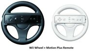 Racing Game Steering Wheel + Motion Plus Remote Controller For Nintendo Wii WiiU