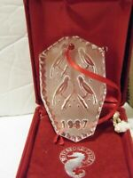 Waterford Crystal 1987 Four Calling Birds 12 Days Of Christmas Ornament Boxed