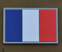 """PVC / Rubber Patch """"French Flag"""" with VELCRO® brand hook"""