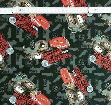 0,5m Baumwolle Webware Disney Cars Friends To The Finish Stoff Meterware