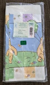VINTAGE Disney Winnie The Pooh in Party Hat Balloons Hallmark Paper Table Cover