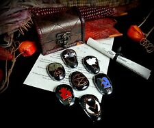 Witches Altar Stones & Chest Set Wicca God & Goddess Elements Earth Air Pagan