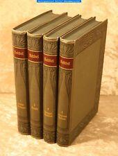 Hebbel-Dr.Karl Zeiß-Hebbels Werke-Meyers Klassiker-Bibliograph.1899 in 4 Bänden