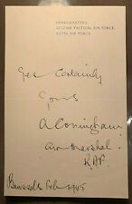 Original WW2 Autographed Letter Signed by Air Marshal Sir Arthur Coningham
