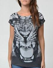 Women's Crew Neck Animal Print Cotton Blend Hip Length Tops & Shirts
