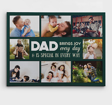 Dad Brings Joy Every Day Custom Photo Canvas Print Fathers Day Gift