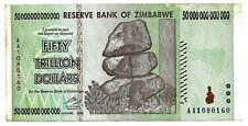 50 Trillion Zimbabwe Dollars Circulated, F. P90. [5 10 20 100] BILLION. MILLION.