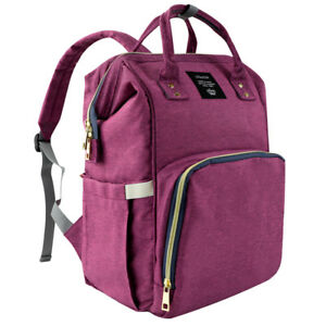 Mommy Maternity Nappy Diaper Bag Large Capacity Travel Backpack Nursing Organize